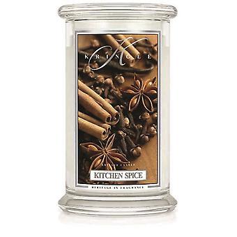 Kringle Kerze duftend groß 22oz classic Jar 2-Wick Küche Gewürz