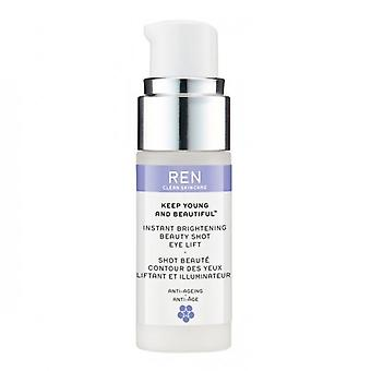 REN houden jonge en mooie Instant Brightening Beauty Shot Eye Lift 15ml