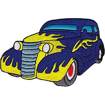 Patch - Automoblies - Purple Hot Rod with Flames Iron On Gifts New Licensed p-3783
