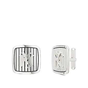 New York Yankees Pinstripe Logo Rounded Cuff Links