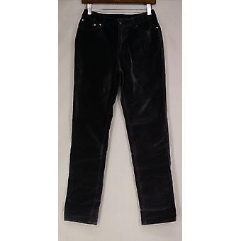 Diane Gilman Jeans 5-Pocket w/ Velvet Skinny Leg Gray Femmes 510-331