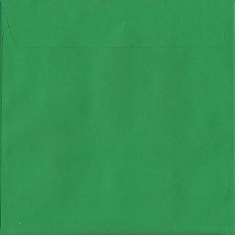 Holly Green Peel/Dichtung 160mm quadratische farbige grüne Umschläge. 120gsm Luxus FSC zertifiziertes Papier. 160 mm x 160 mm. Wallet-Stil-Umschlag.