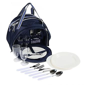 Regatta Epula 4 Person Picnic Pack With Integrated Cool Bag Dark Denim/Light