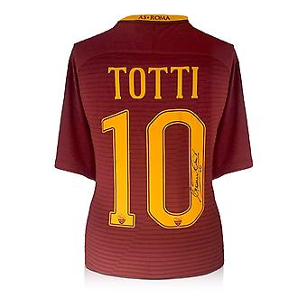 Francesco Totti Signed AS Roma Football Shirt 2016-17: The Final Season