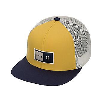 Hurley Men's Snapback Trucker Cap ~ M Natural yellow
