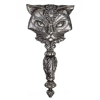 Alchemy Gothic Sacred Cat Hand Mirror