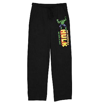 Incredible HULK Black Unisex Sleep Pants