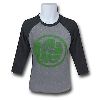 Hulk Fist Bump Men's Baseball T-Shirt