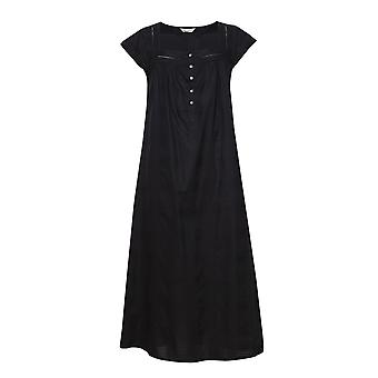 Cyberjammies 1342 Frauen's Nora Rose violett schwarz Check Baumwolle lange Nachthemd