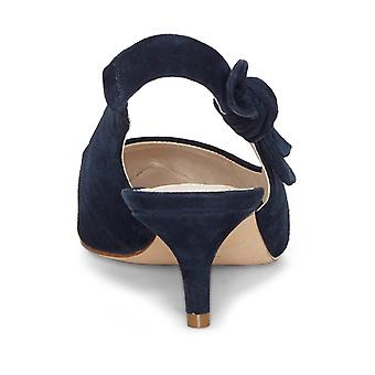 Louise Et Cie Womens Jasilen Leather Pointed Toe SlingBack Classic Pumps