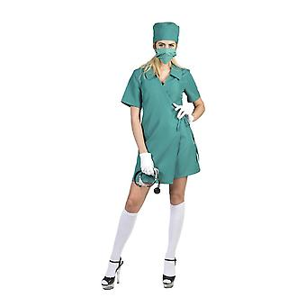 Costume Surgeon Ladies Doctor Doctor Costume Doctor Doctor Hospital Blue Green Carnival Carnival OP Sister