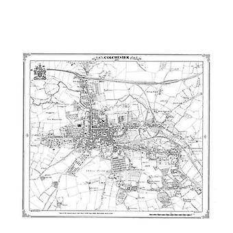 Colchester 1875 Heritage Cartography Victorian Town kartta (Heritage kartografia Victorian kaupungin kartat sarja)