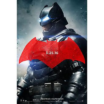 Batman V Superman Dawn Of Justice Original Movie Poster Double Sided Advance Style C - Batman Mech Suit
