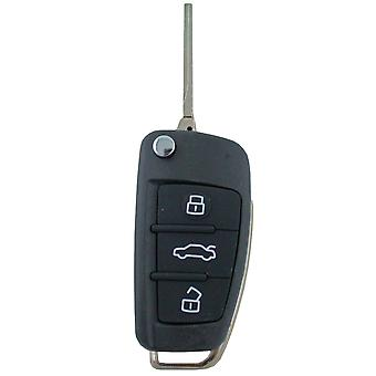 Custom To Suit Audi 3 Button Flip Uncut Key