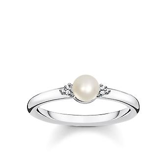 Thomas Sabo Sterling Silver Thomas Sabo Vintage Diamond And Pearl Ring D_TR0039-765-14