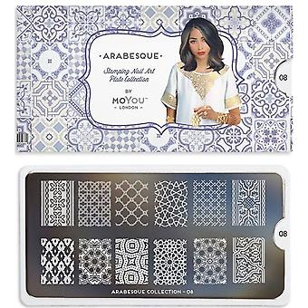 MoYou London Nail Art Image Plate - Arabesque (08)