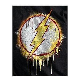 The Flash Unisex Adults Splatter Logo T-Shirt