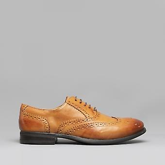 Mister Carlo Monty Ii Mens Leather Brogue Lace Ups Tan