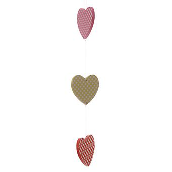 Polka Dot Three Hearts Hanging Decoration