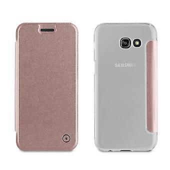 Galaxy A5 Case (2017) Folio Rose Gold - Muvit