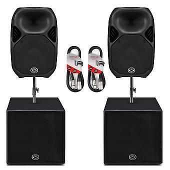 Wharfedale Pro Titan1215 Active Speaker System Bundle