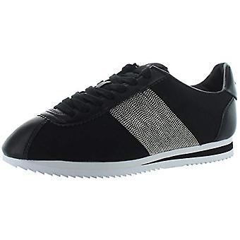 DKNY Womens Tezi Leather Embellished Fashion Sneakers Black 7 Medium (B,M)