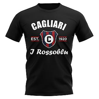 T-shirt da calcio Cagliari Established (Nero)