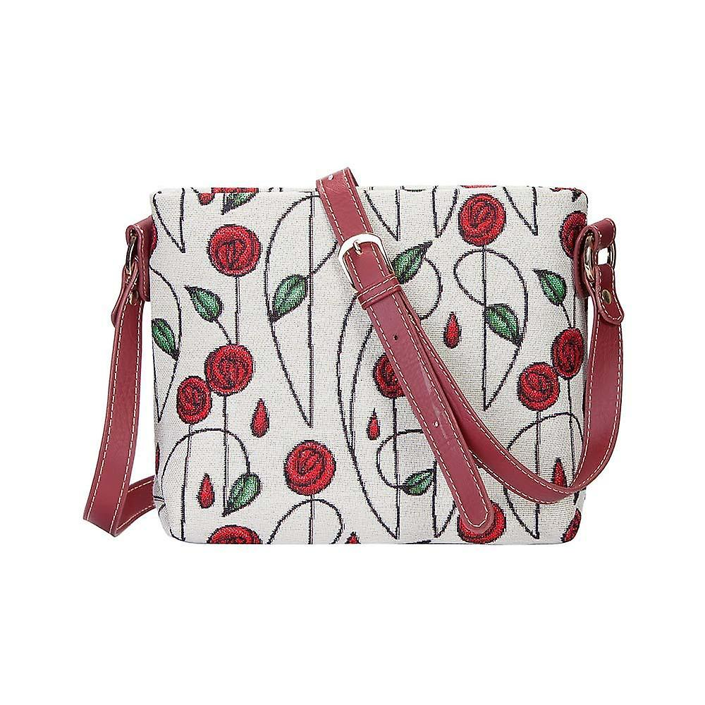 Mackintosh - simple rose cross body bag by signare tapestry / xb02-rmsp