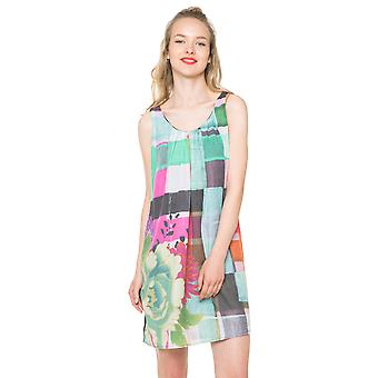 Desigual Women's Abstract Check Floaty Dina Elbise