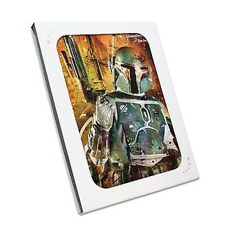 Boba Fett Signed Star Wars Poster: Bounty Hunter. In Gift Box