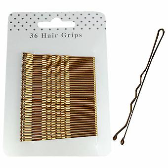 Molly & Rose Bronze Hair Grips 65mm 36 Pack X 3