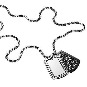 Collana e pendente gioielli DX1169040 borchie - collana e pendente acciaio soldi uomo Diesel