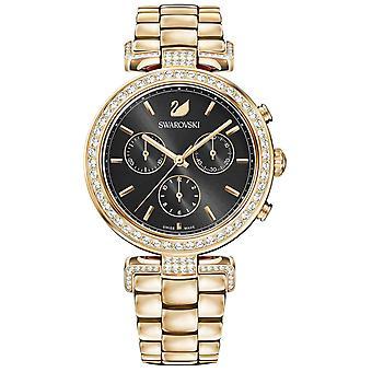 Watch 5295366 Swarovski - crystals steel gold woman
