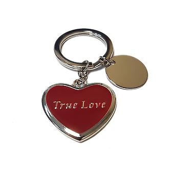 Silver Options Love Heart Keyring