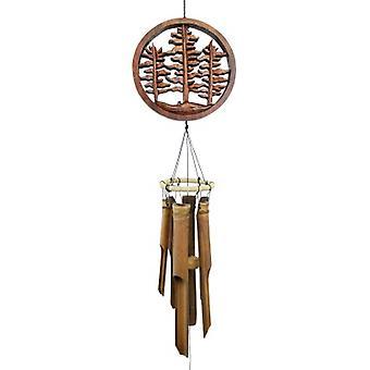 Carillon de vent de bambou d'arbre de forêt