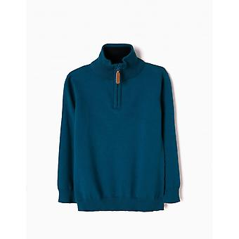 Zippy Sweat Knit Moroc Blau