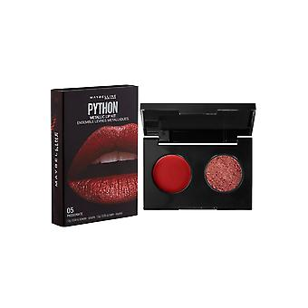 Maybelline Python Metallic Lip Kit Pulver och Lip Color Passionerad #05