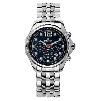 ORPHELIA mannen Dual Time Watch Silver roestvrij stalen OR82700