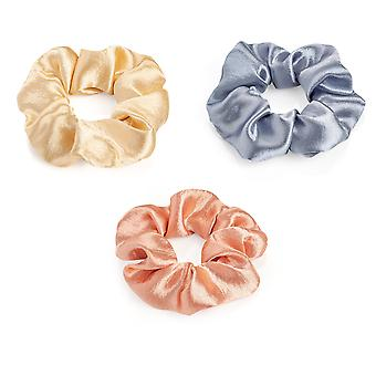 Metallic Design 4.5cm Elasticated Hair Scrunchie Various Colours