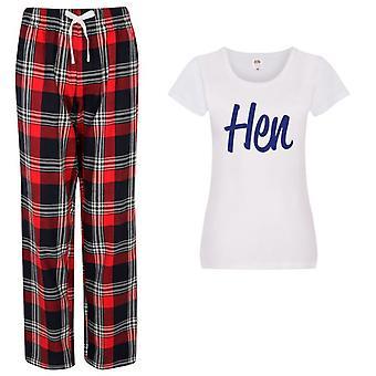 Damer Hen Tartan Byxa Pyjamas