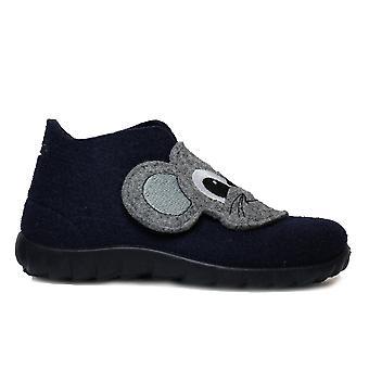 Superfit 00294-81 Marinha sentida com botas de chinelo do motivo do rato
