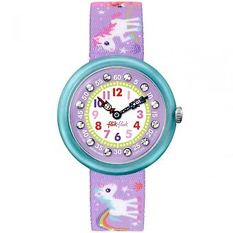 Flik Flak Fbnp033 Magical Unicorns Textile Watch