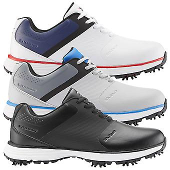 Stuburt Golf Mens 2021 PCT II Spiked Synthetic Microfibre Waterproof Golf Shoes