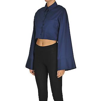 Dondup Ezgl030240 Women's Blue Cotton Shirt