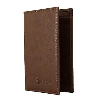 Brown leather bifold wallet a55