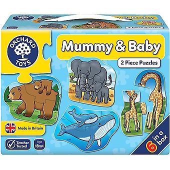 Orchard Mummy & Baby 2 Stuk Puzzel