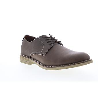Izod Imperial Mens Brown Leather Low Top Lace Up Plain Toe Oxfords Chaussures