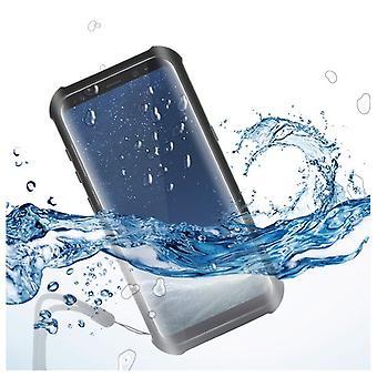 Vattentätt fodral Samsung Galaxy S8 KSIX Aqua case Svart Transparent