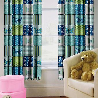 Ready Steady Bed Butterfly Design Children's Bedroom Curtains 66