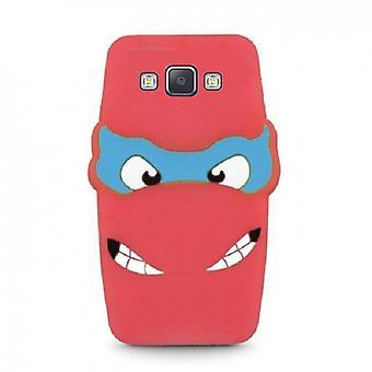 Samsung Galaxy A5 (2015) - 3D silikoni suojakuori - punainen